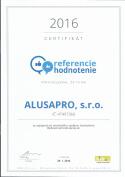 certifikát 3 - zimné záhrady, zádveria, terasy, deliace priečky | Alusa pro